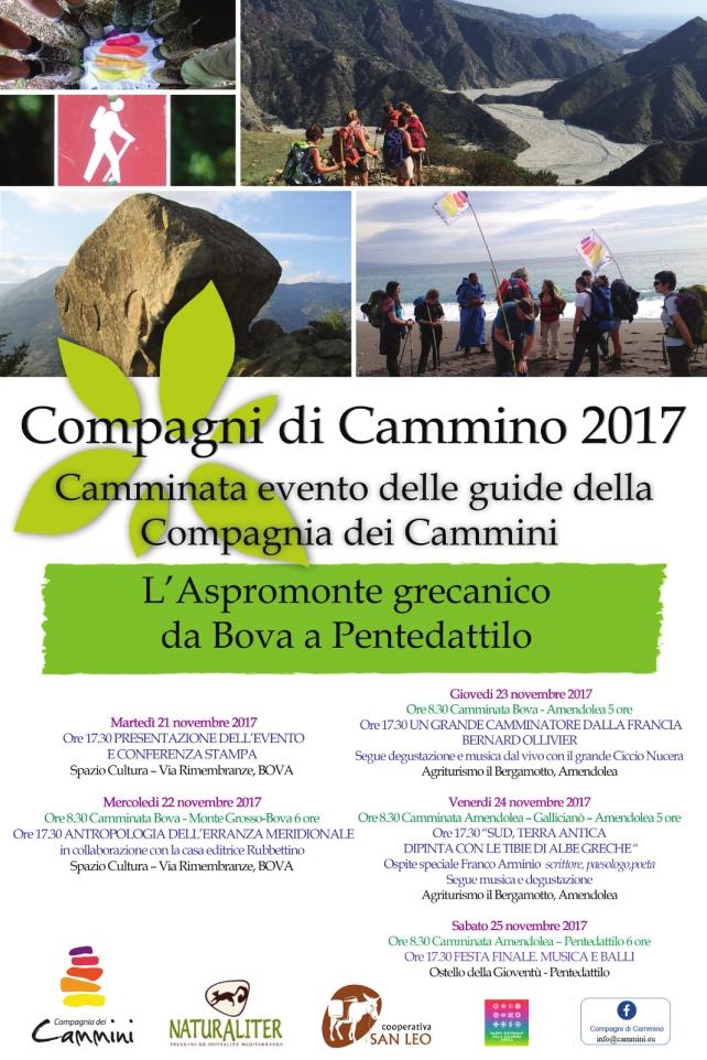 manifesto Compagni di cammino 2017 Aspromonte